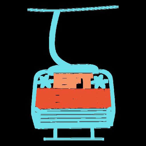 Lift season flat badge