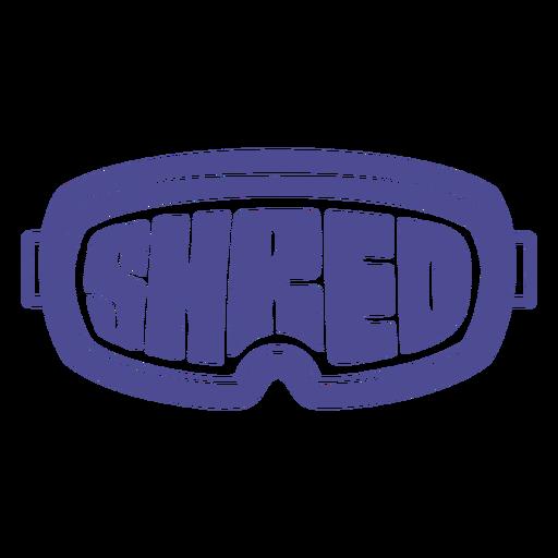 Shred snowboard goggles badge