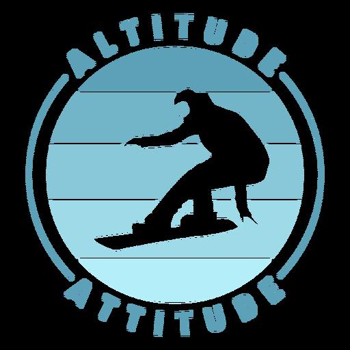 Altitude attitude snowboard badge