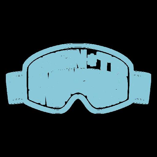 Born to snowboard goggles badge