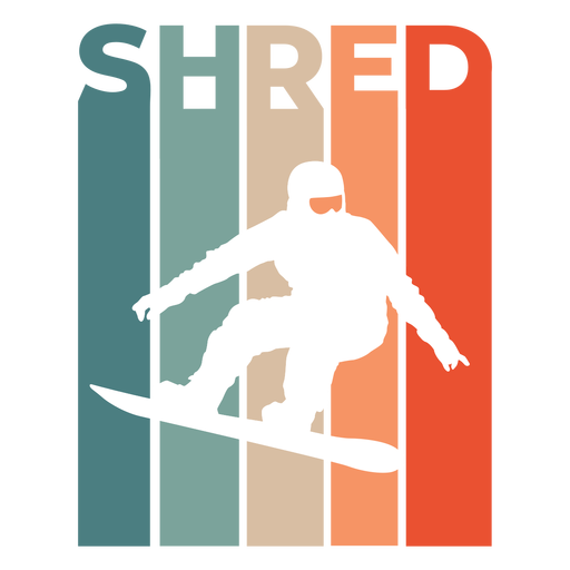 Shred snowboard flat badge