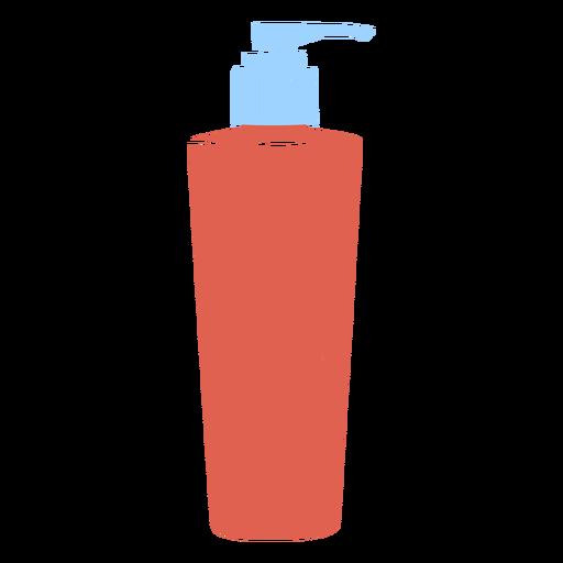 Simple flat soap dispenser bottle