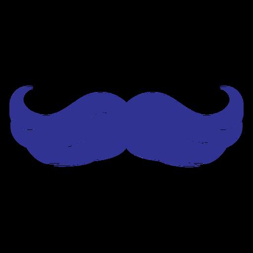 Flat hairy moustache icon