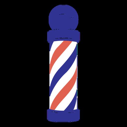 Flat barber shop pole