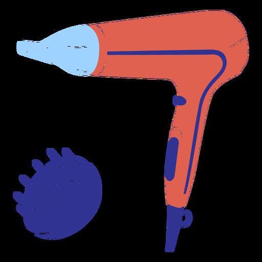 Simple flat hair dryer