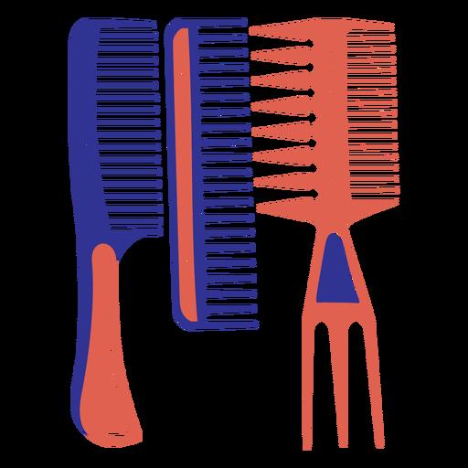 Flat set of hair brushes