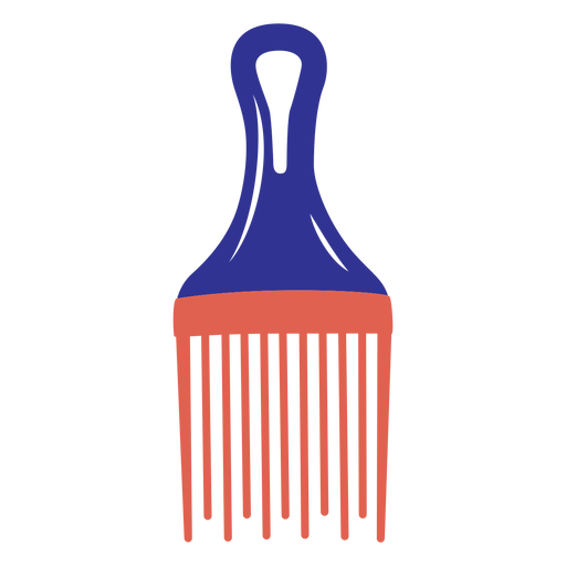 Simple flat afro comb
