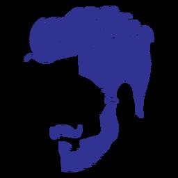 Man fashion haircut silhouette