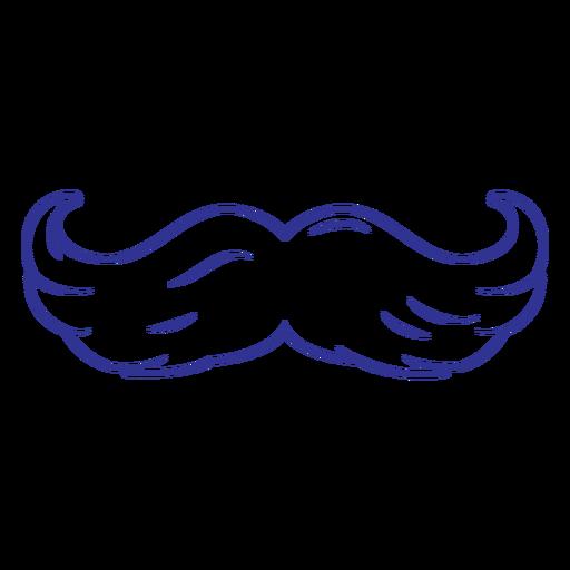 Flat hairy moustache stroke