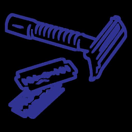 Old school stroke shaving razor