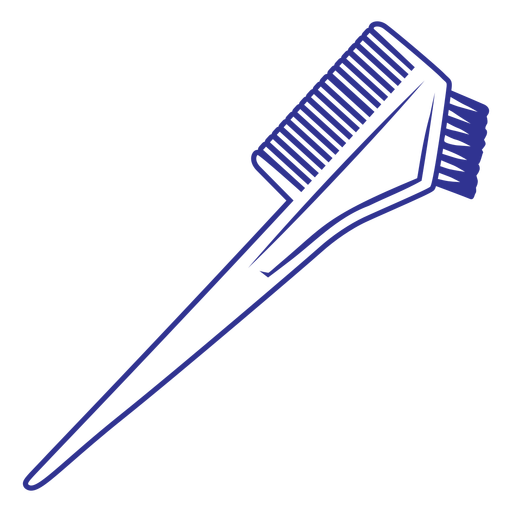 Simple stoke double hair comb