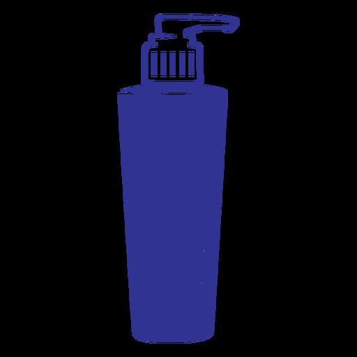 Filled stroke shampoo bottle dispenser