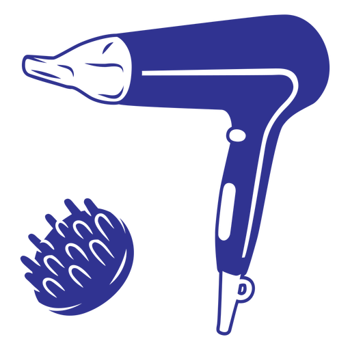 Simple filled stroke hair dryer