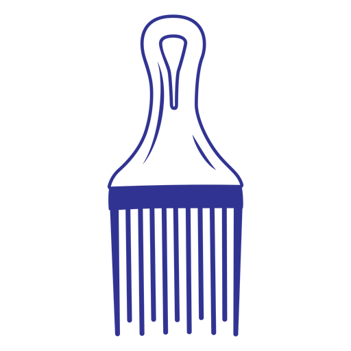 Simple filled stroke afro comb