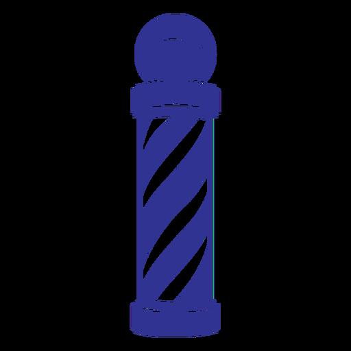 Filled stroke barber shop pole