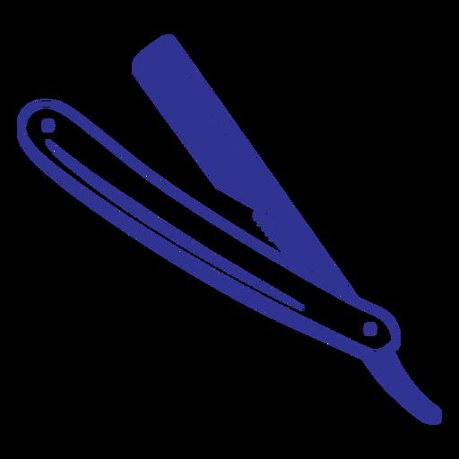 Simple filled stroke straight razor