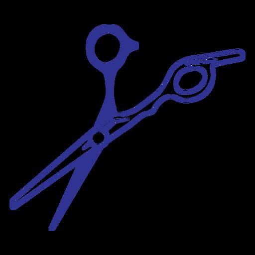 Filled stroke hair scissors