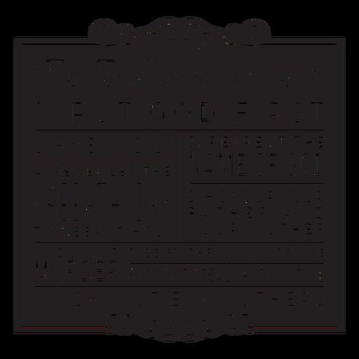 Ten commandments badge