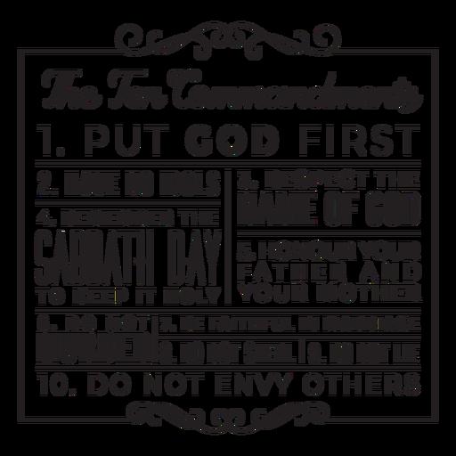 Ten commandments badge stroke