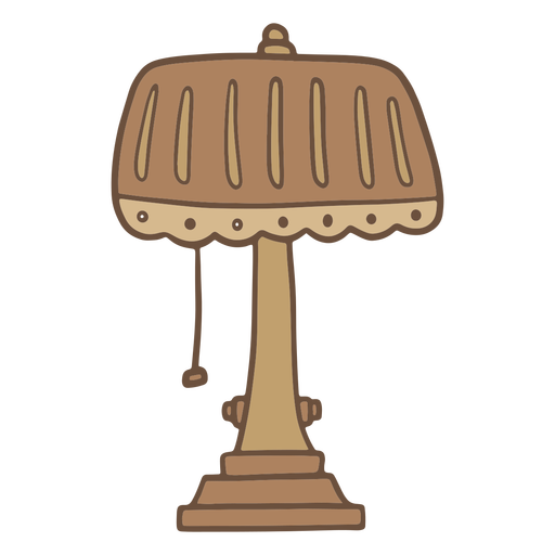 Color stroke vintage table lamp