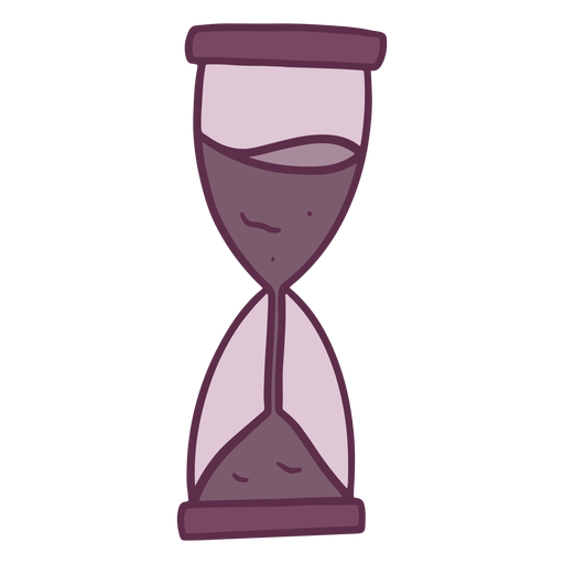 Simple colored hand drawn hourglass