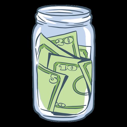 Hand drawn tip jar