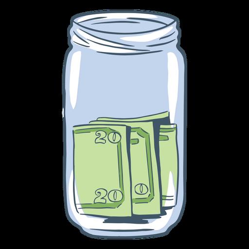 Simple hand drawn tip jar