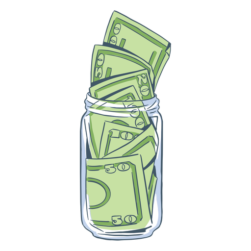Hand drawn full tip jar