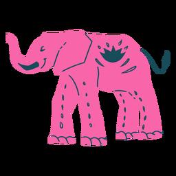 Hand drawn pink elephant