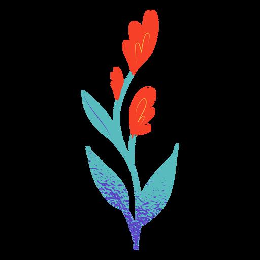 Simple red flower semi flat