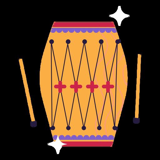 Flat ornamented simple hindi drum