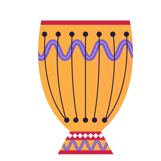 Flat ornamented hindi drum