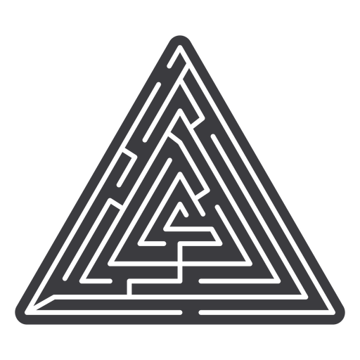Simple cut out triangle shaped maze