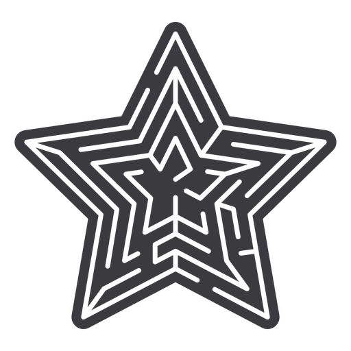 Simple cut out star shaped maze