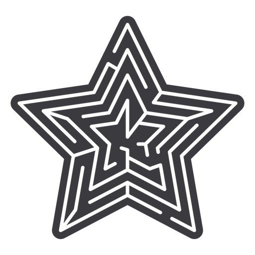 Simple star shaped maze cut out