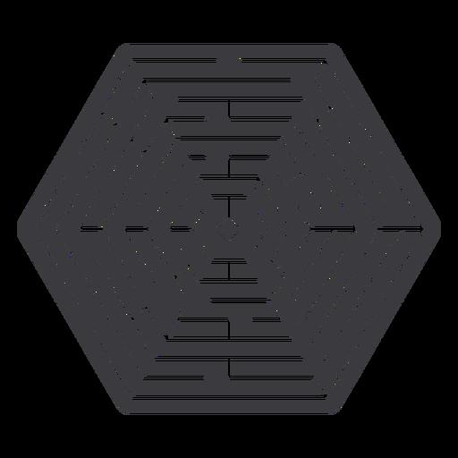 Simple cut out hexagonal shaped maze
