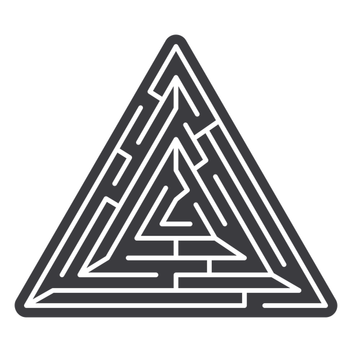 Simple triangle shaped maze cut out