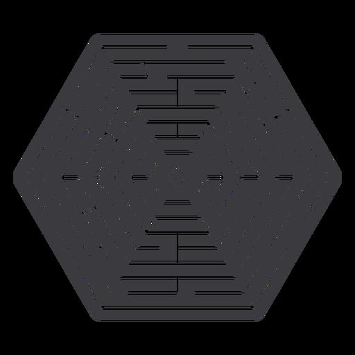 Simple hexagonal shaped maze cut out