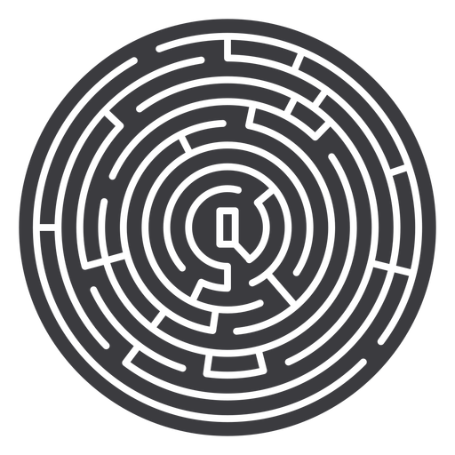 Simple circle shaped maze  cut out