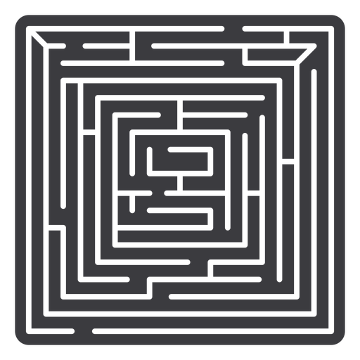 Simple cut out square shaped maze