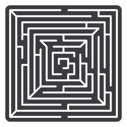 Simple square shaped maze cut out