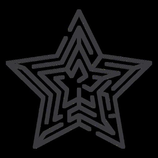 Simple stroke star shaped maze
