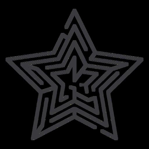 Simple star shaped maze stroke