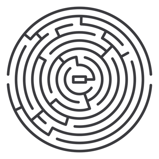 Simple stroke round shaped maze
