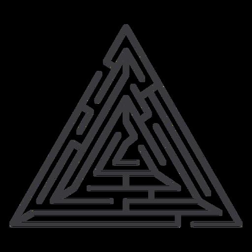 Simple triangle shaped maze stroke