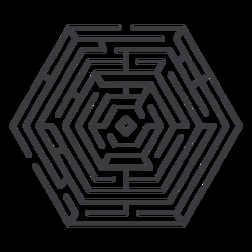 Simple hexagon shaped maze stroke