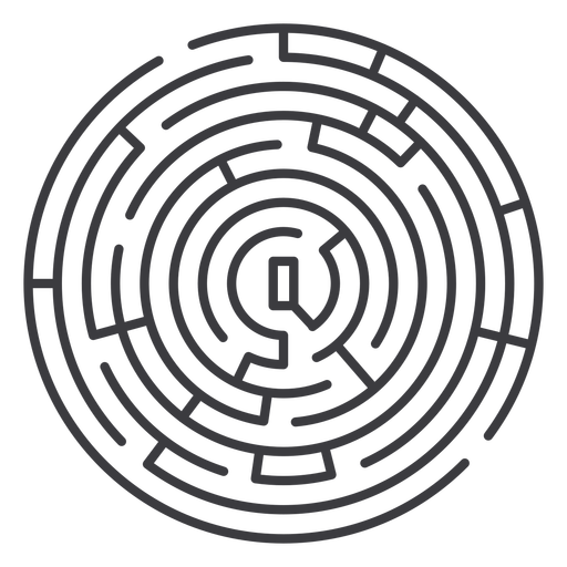 Simple round shaped maze stroke