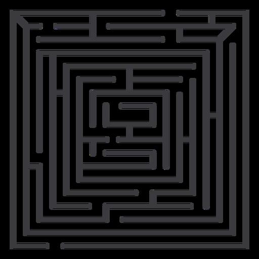 Simple stroke square shaped maze