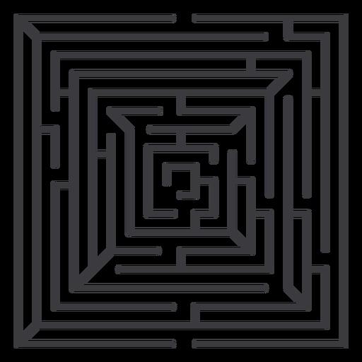 Simple square shaped maze stroke