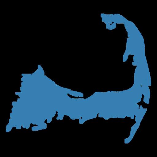 Island map silhouette